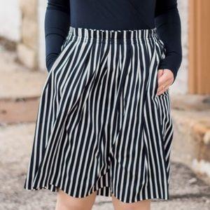 J. Crew Mercantile striped skirt